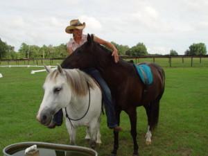 Caroline Rider with Smokey & Sundance